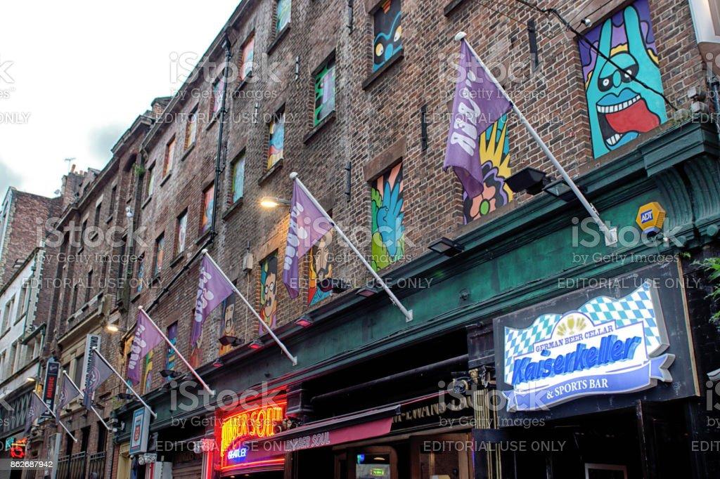 Mathew Street Liverpool stock photo