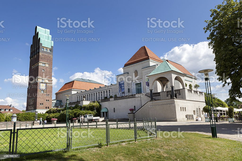 Mathildenhoehe, Darmstadt stock photo