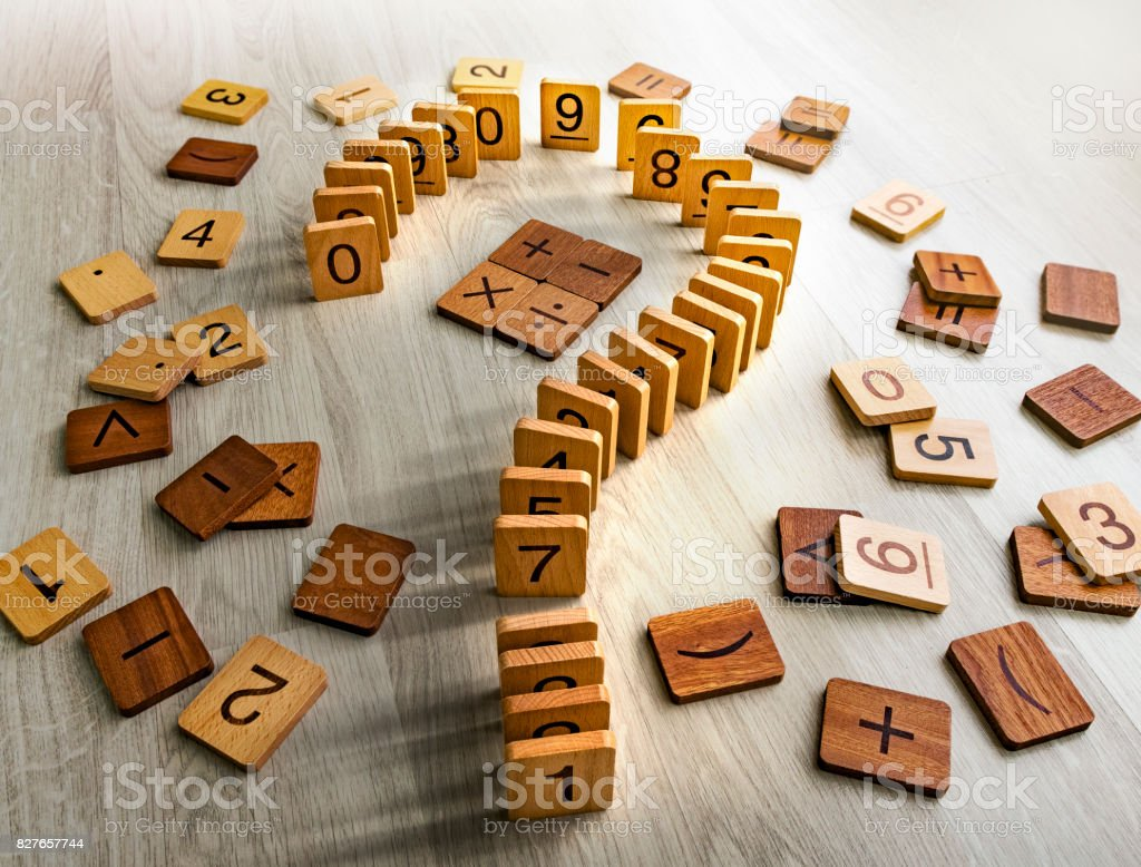 math-question mark stock photo