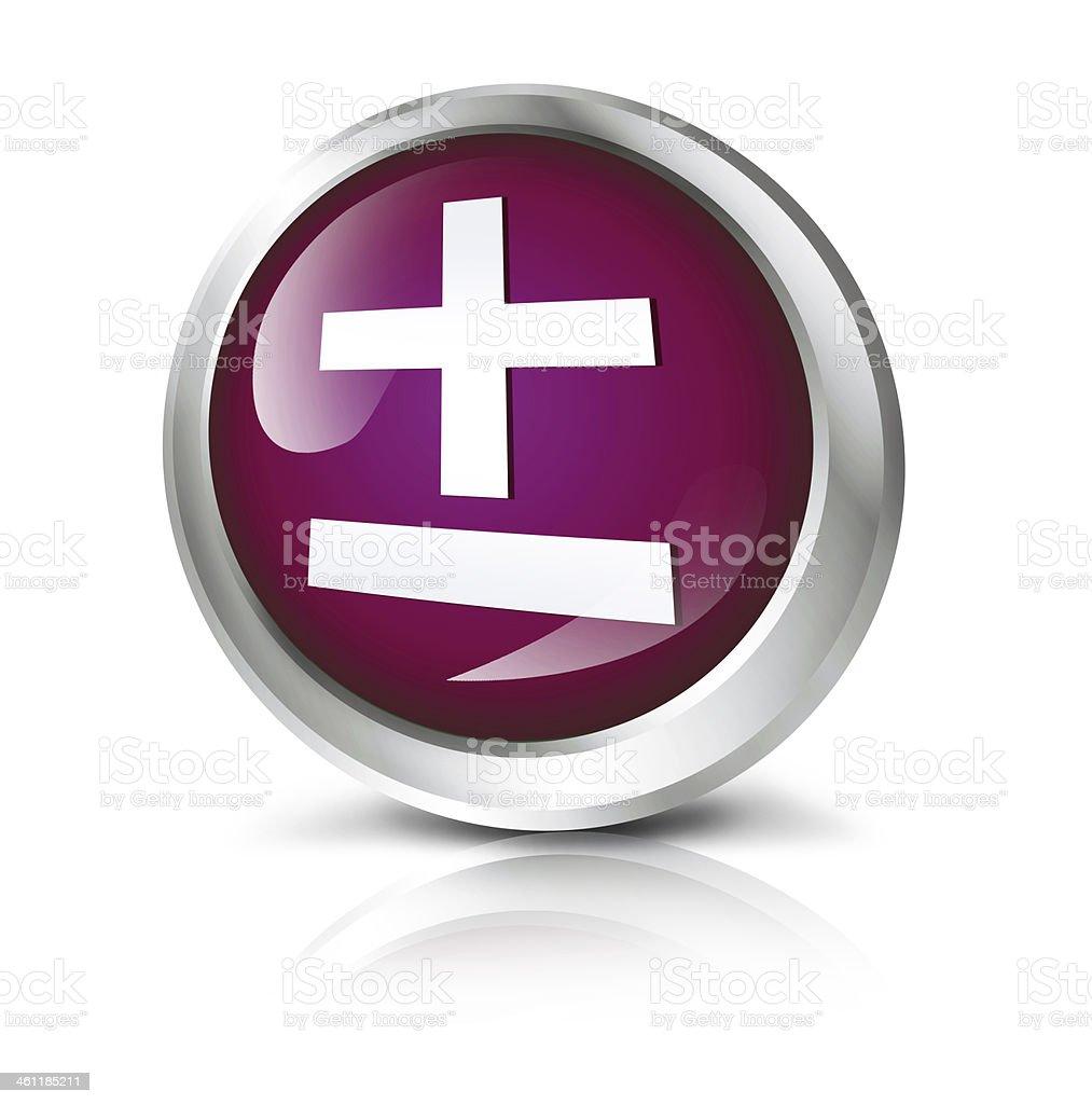 Maths icon royalty-free stock photo