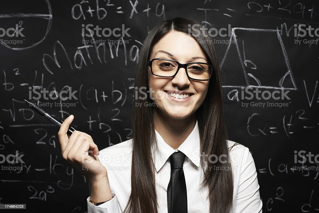 Maths teacher royalty-free stock photo