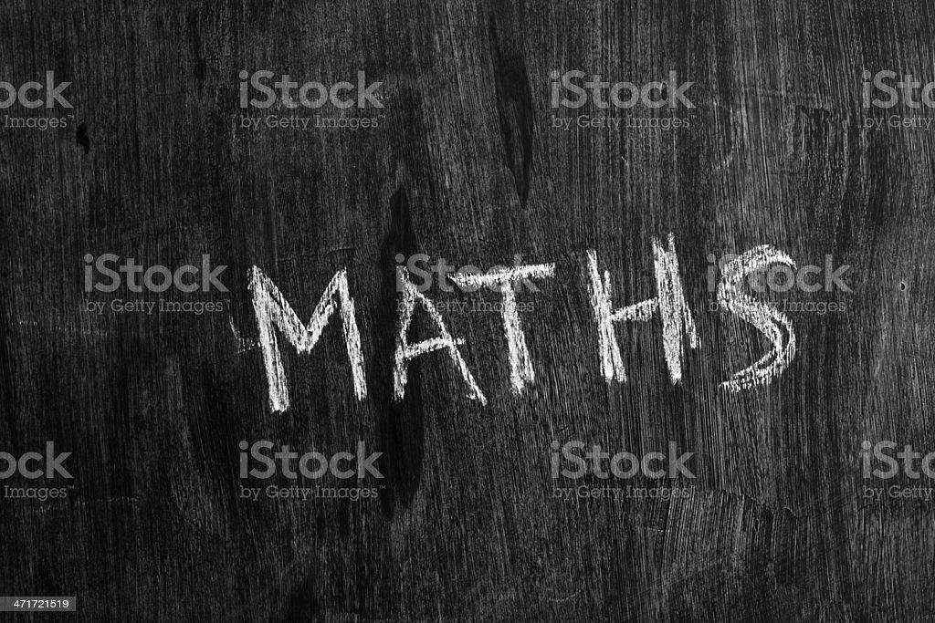 Maths written on blackboard royalty-free stock photo