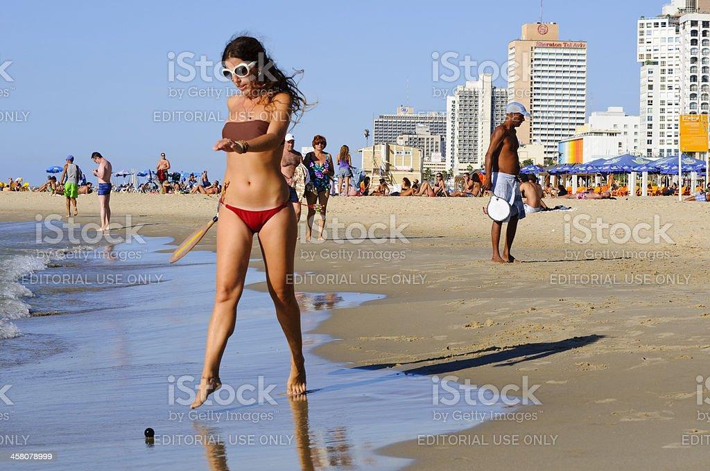 Matkot on tel aviv beach stock photo more pictures of activity matkot on tel aviv beach royalty free stock photo publicscrutiny Gallery
