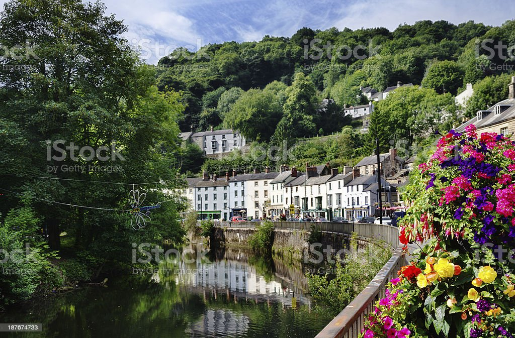 Matlock Bath and River Derwent stock photo