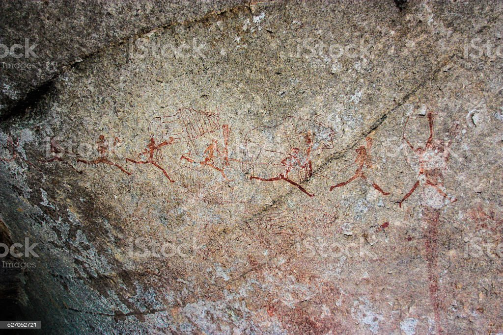 Matopo Rock Painting stock photo