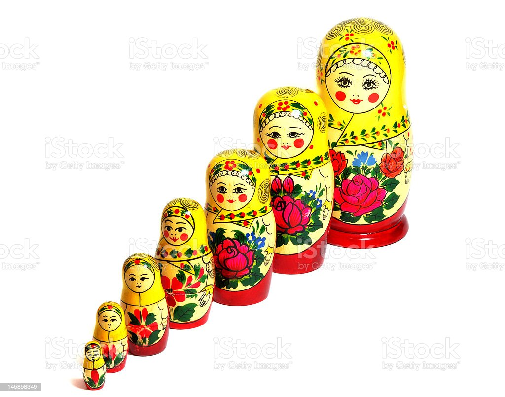Matreshka_diagonal royalty-free stock photo