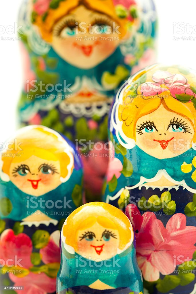Matrioshka close-up royalty-free stock photo