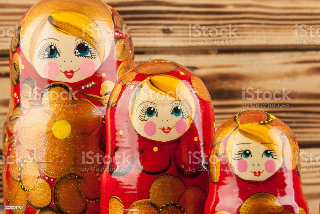 Matrioshka or  babushkas dolls stock photo