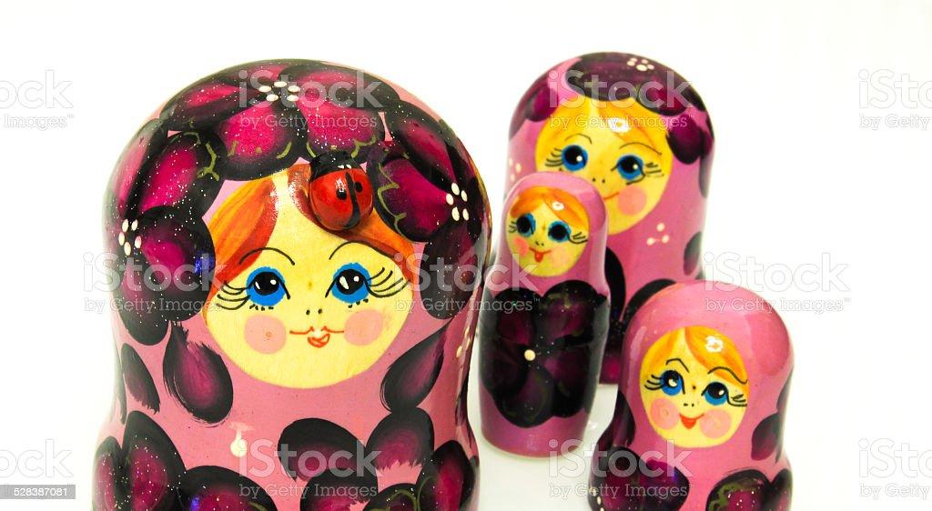 matrioska doll from russia stock photo