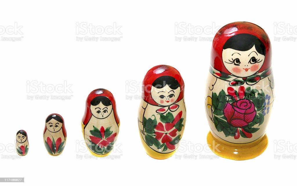 Matrioska dolls royalty-free stock photo