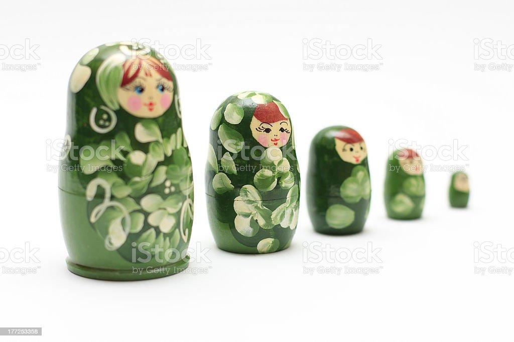 Matrioska nested dolls royalty-free stock photo
