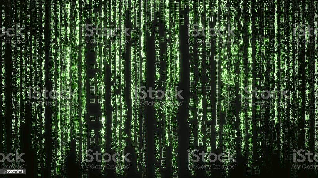 Matrix background stock photo