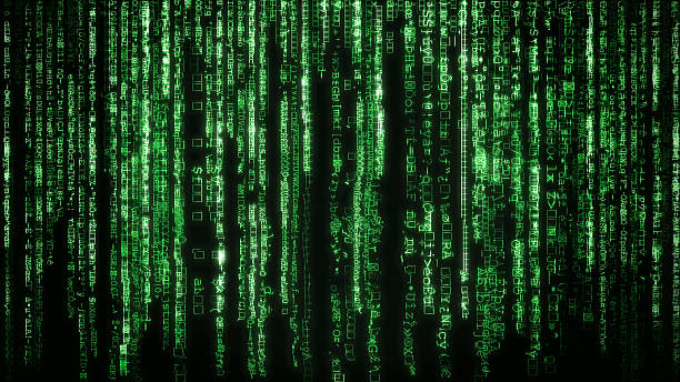 Matrix background stock photo