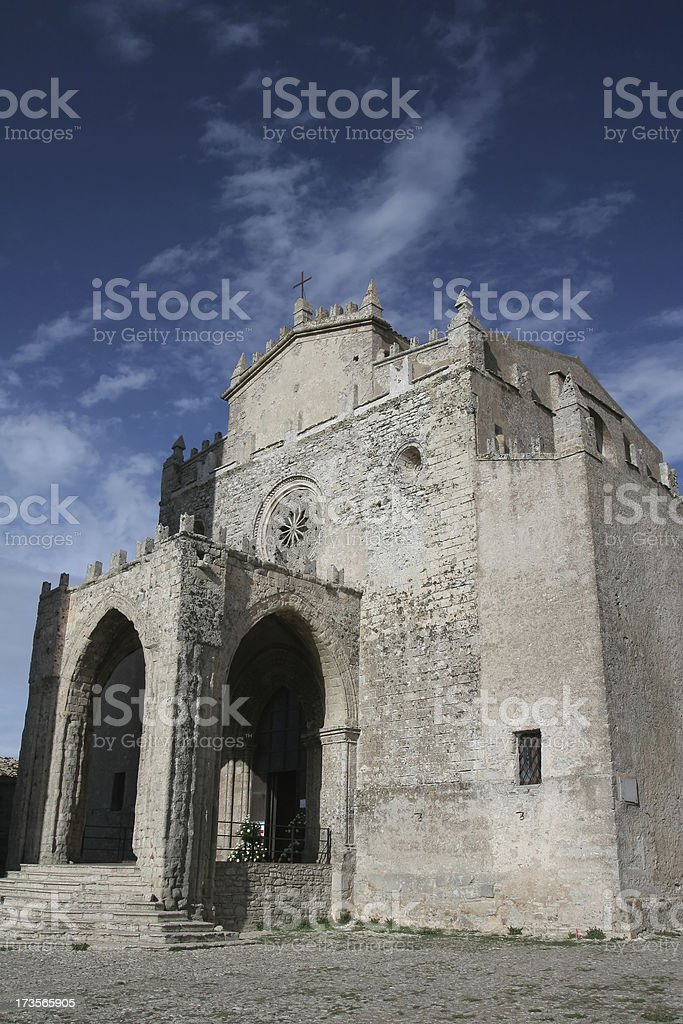 Chiesa Matrice in Erice, Sicily royalty-free stock photo