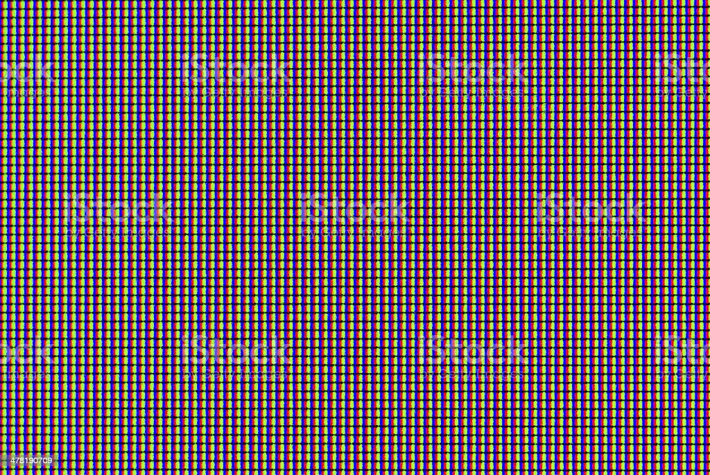 Matrix of lcd screen macro shot stock photo