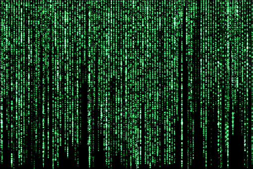 Matrix background, ideal to use to create digital composite about cyberpunk, cyberspace, hacking and other computer related topics.