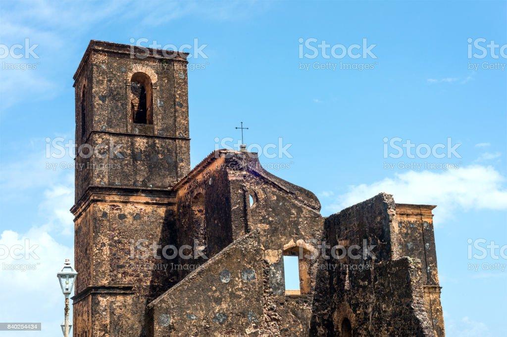 Matriz Church ruins in the historic city of Alcantara near Sao Luis, Maranhao State, Brazil stock photo