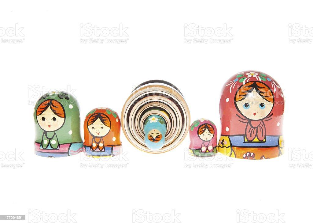 Matryoshka / Babushka - Russian Nested Dolls royalty-free stock photo