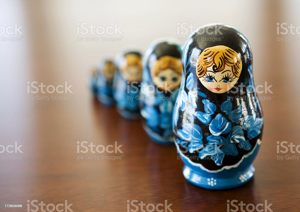 Matryoshka doll stock photo