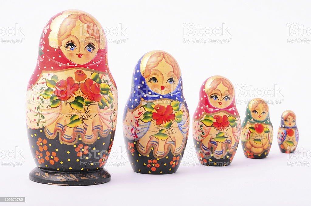 Matryoshka doll, Russian Souvenir stock photo
