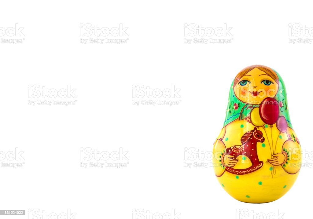 Matryoshka doll;Russian doll, isolated on white background stock photo