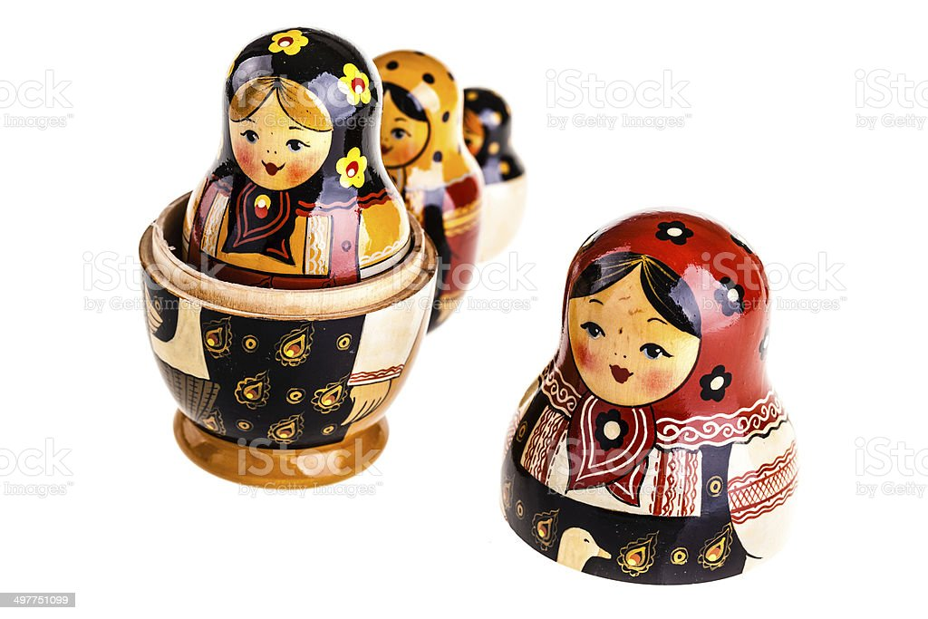 Matryoshka dolls royalty-free stock photo