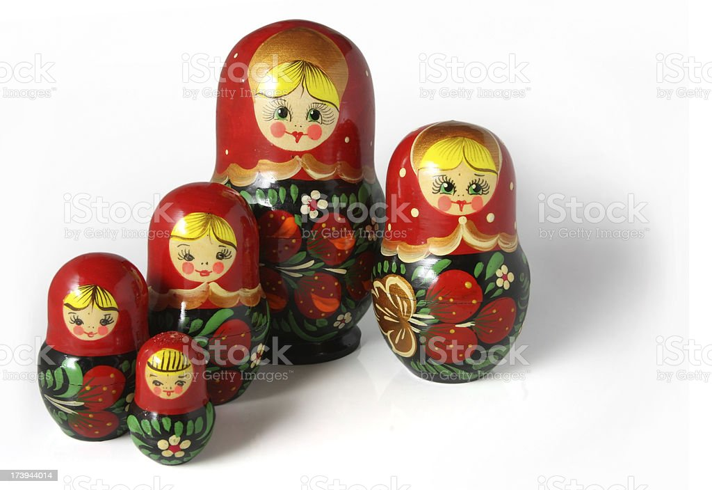 Matryoshka ( Isolated on White ) royalty-free stock photo
