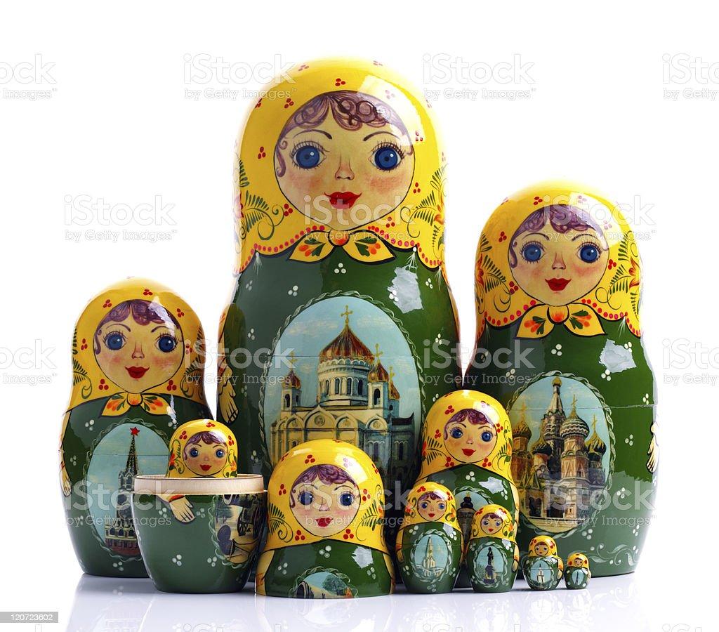 Matryoshka - Russian nested dolls stock photo