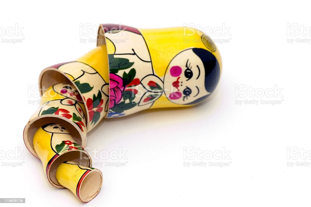 Matryoshka Russian Toys stock photo