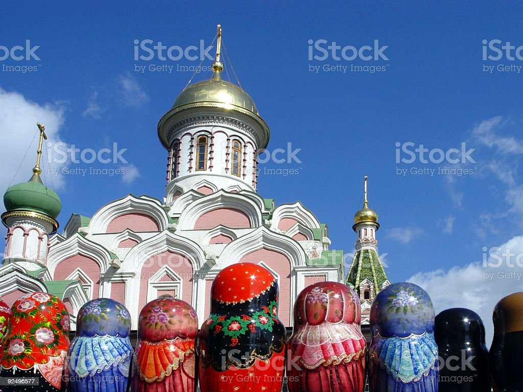 Matryoshkas at Red Square royalty-free stock photo