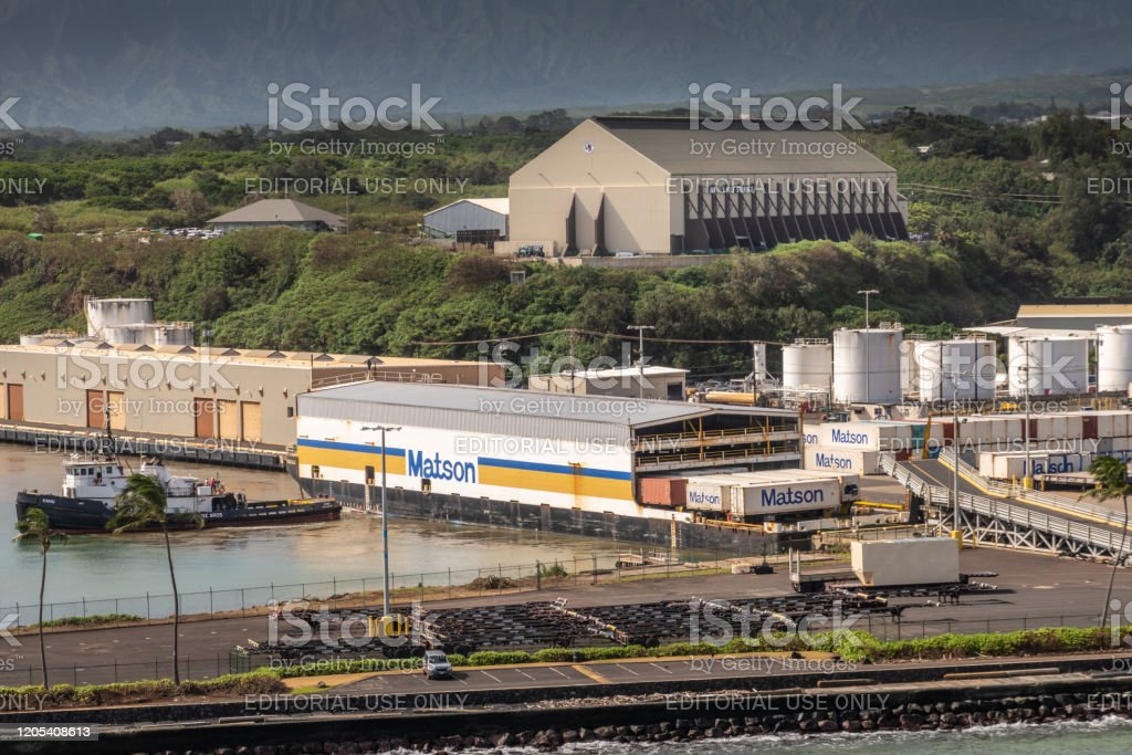 Matson Covered Barge And Guardian Self Storage At Nawiliwili Port