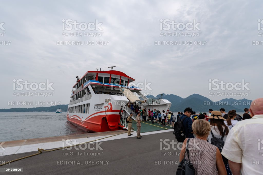 Matsudai Kisen ferries boarding stock photo