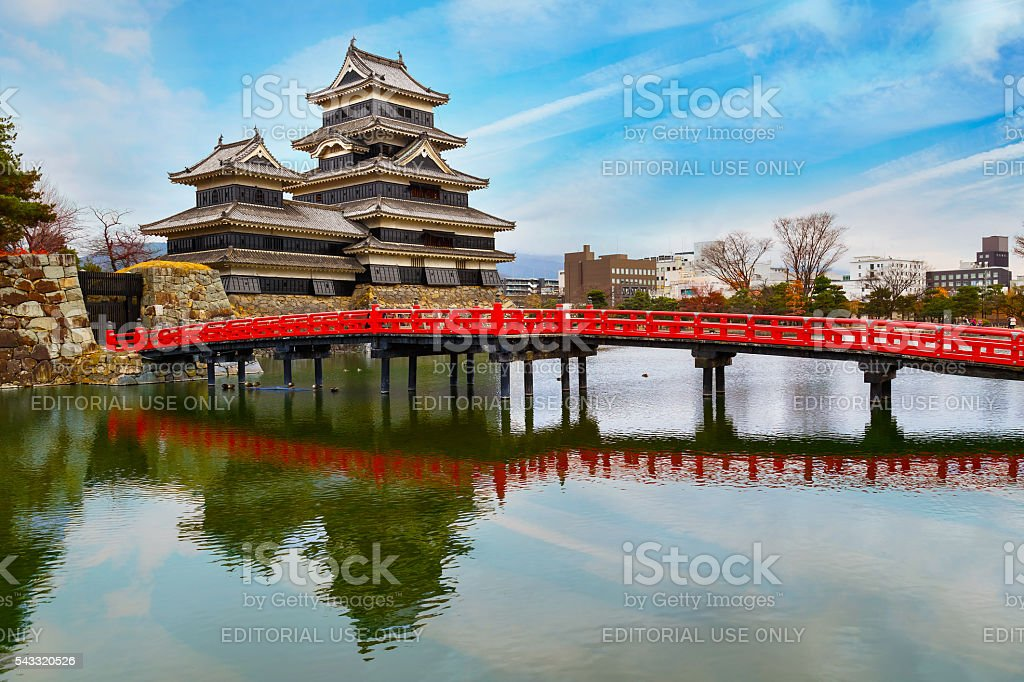 Matsumoto Castle in Japan stock photo