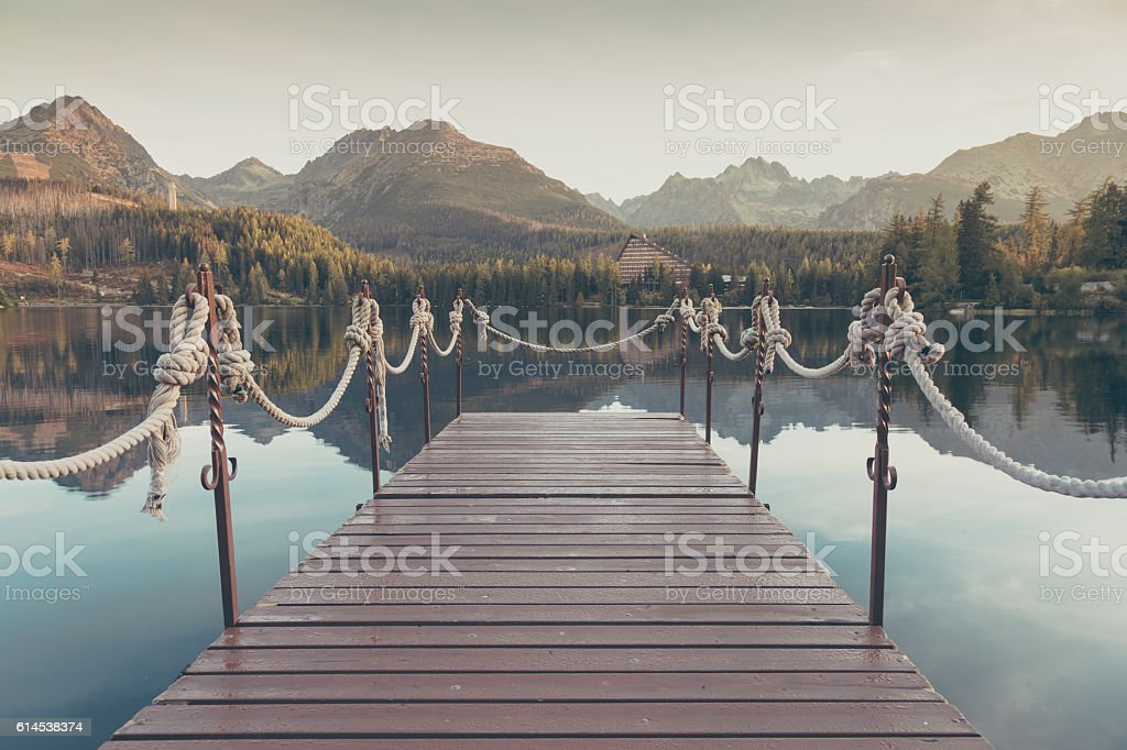Matt filtered on landscape with a lake. stock photo
