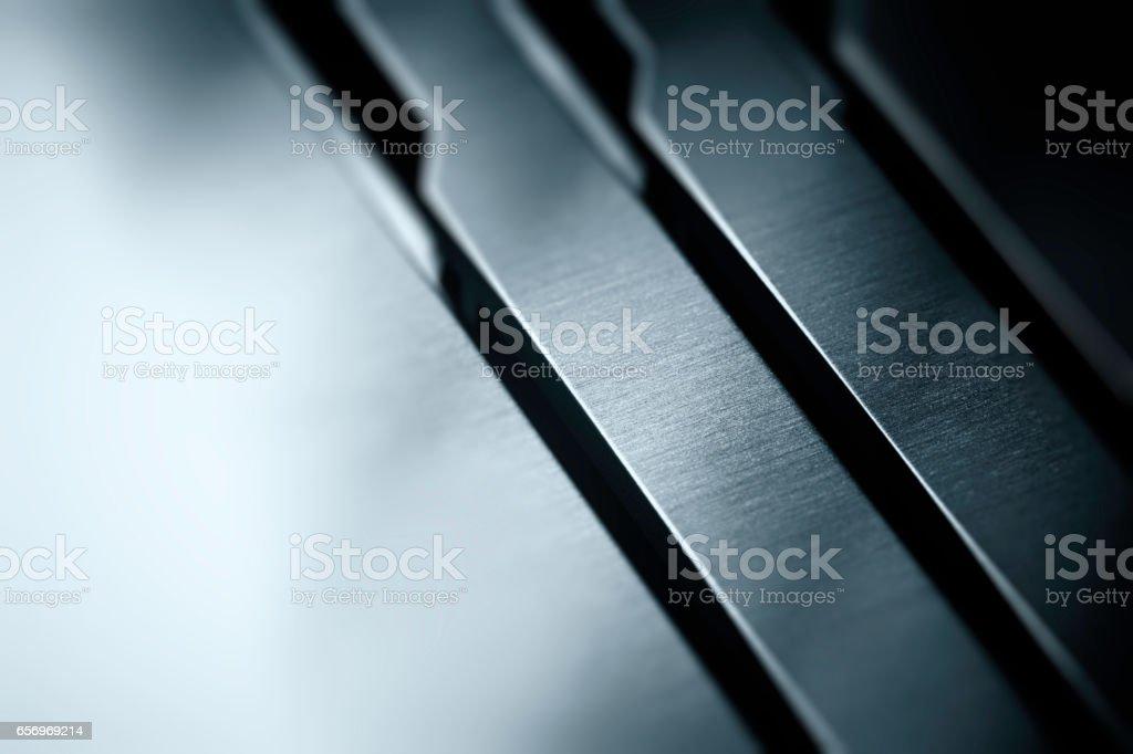 matt metal texture with polished aluminum finish - foto stock