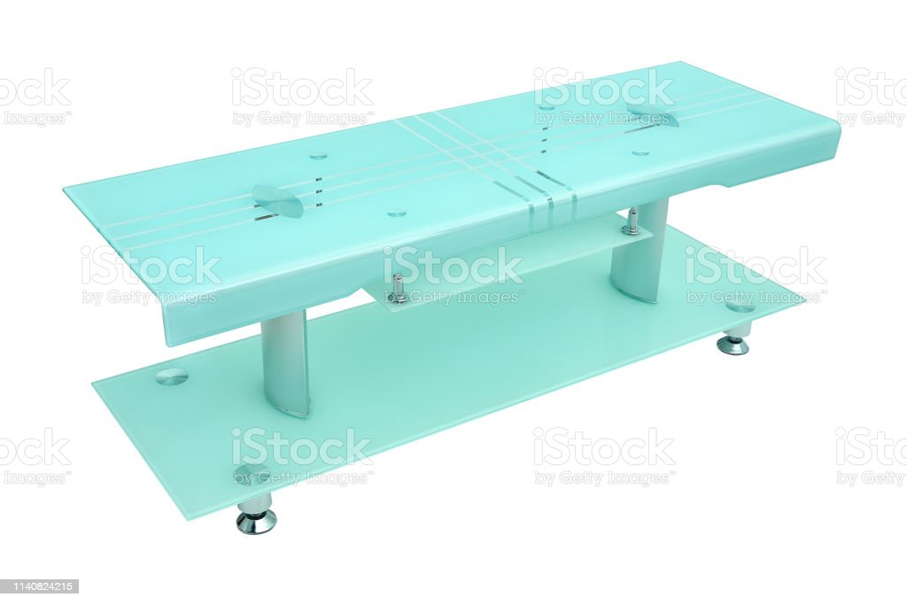 Matte Green Glass And Aluminium Chrome Coffee Table Modern Table