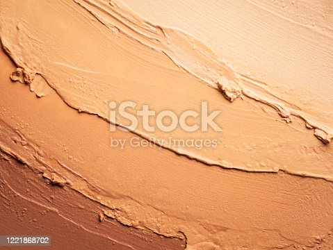 Beige and light brown nude color matte make-up concealer foundation smudged bb cc tonal cream powder
