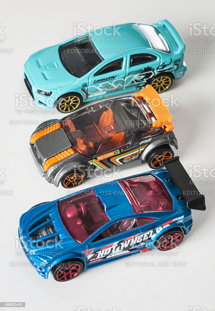 Mattel Hot Wheels diecast toy cars stock photo