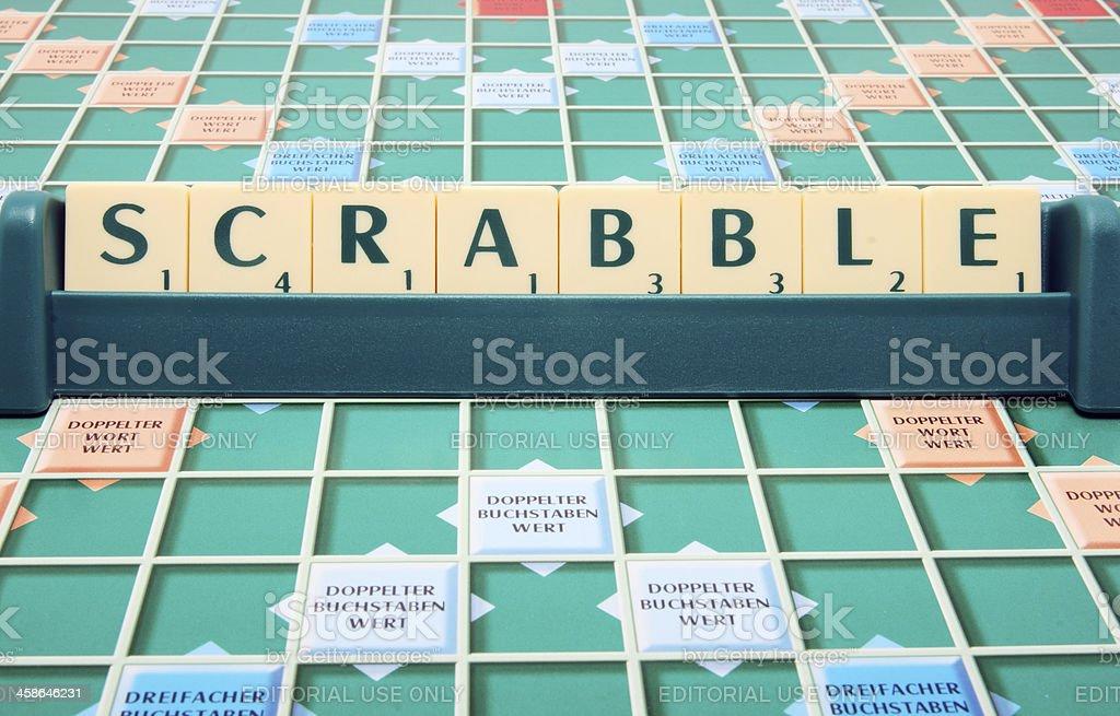 Mattel's family board game Scrabble royalty-free stock photo