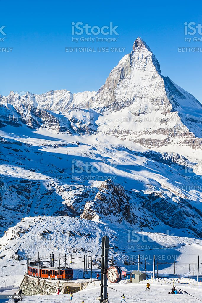 Matterhorn and Gornergratbahn royalty-free stock photo