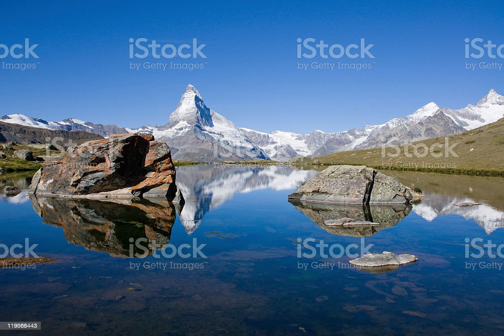 Matterhorn and Stelisee royalty-free stock photo