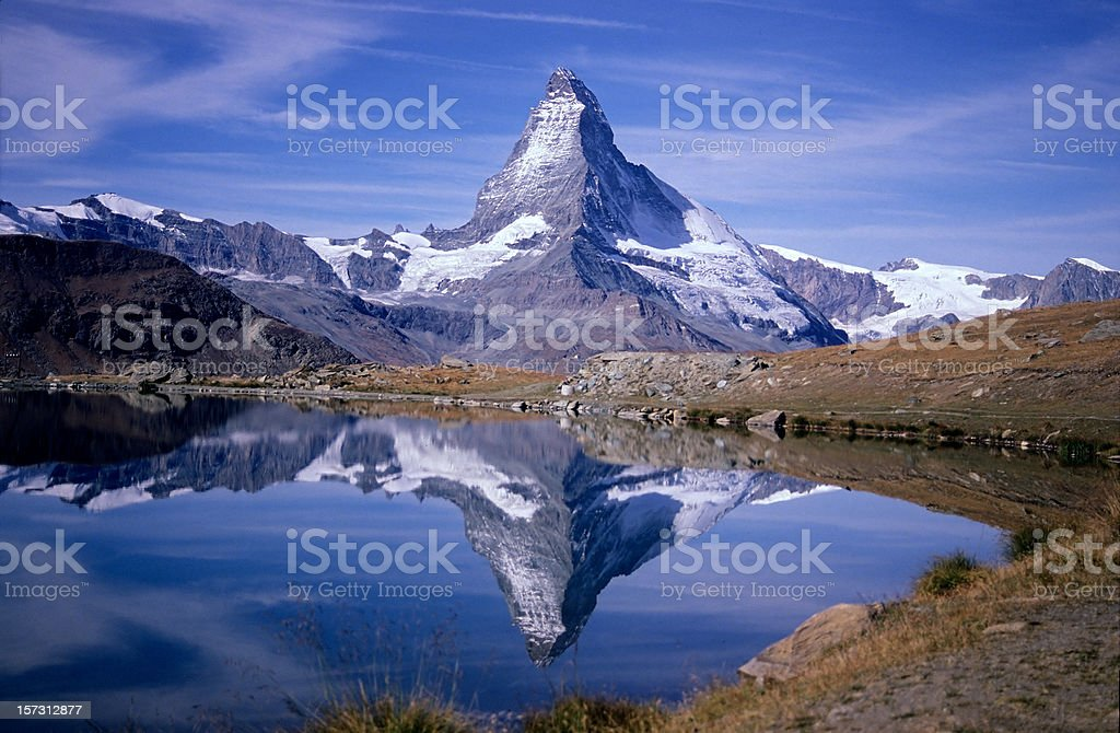 Matterhorn and Stellisee royalty-free stock photo