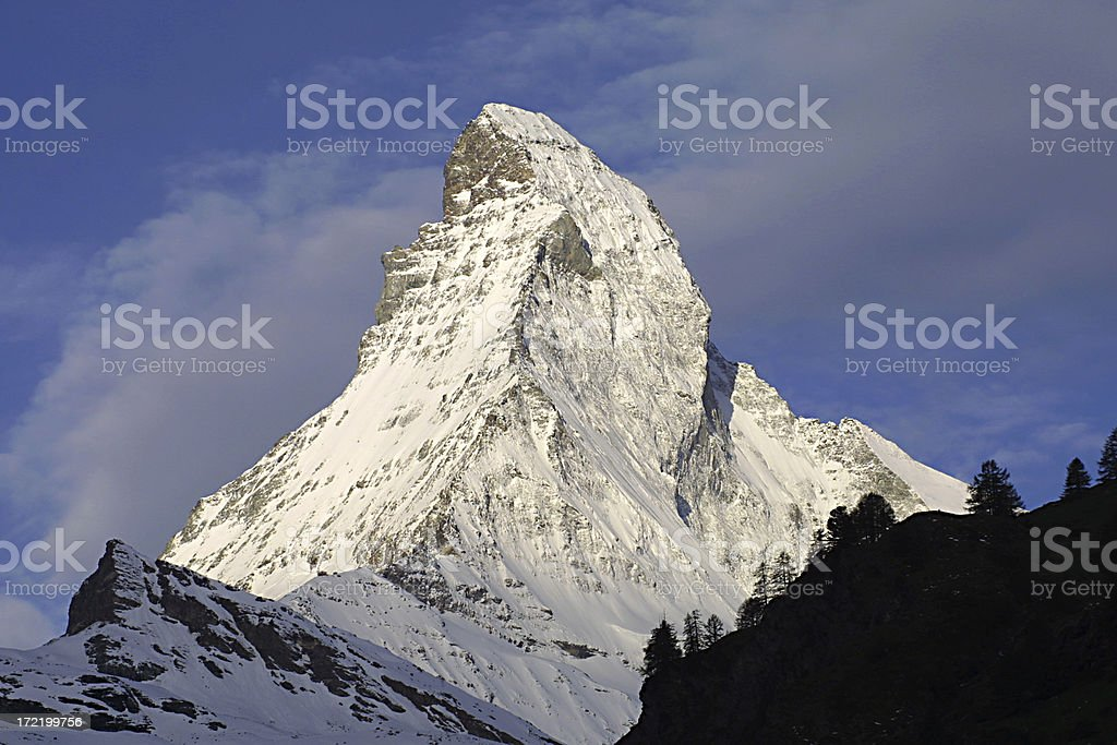 matterhorn as the sun rises royalty-free stock photo