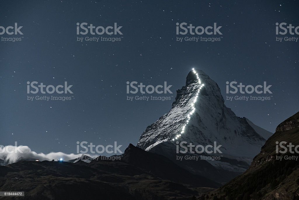 Matterhorn at Night stock photo