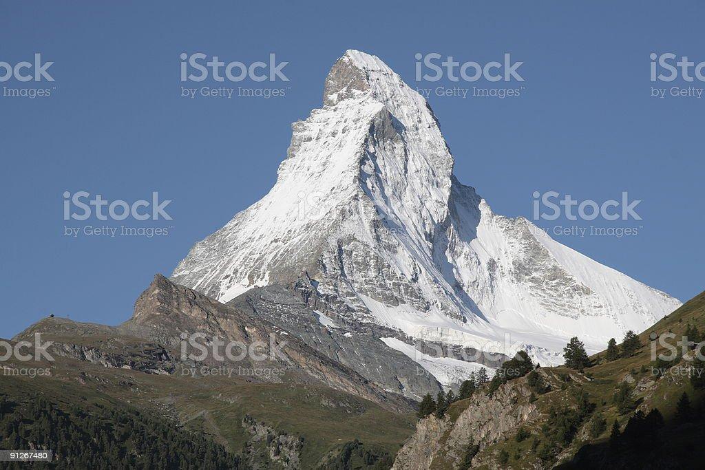 Matterhorn from Zermatt, Valais, Switzerland royalty-free stock photo