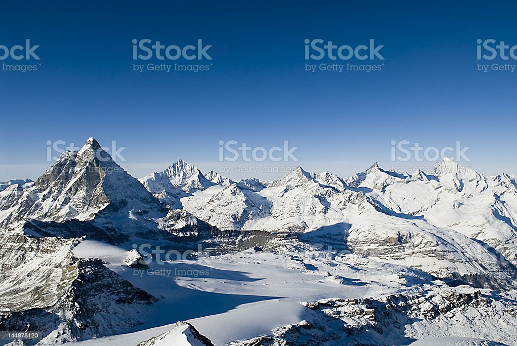 Matterhorn in the Alps royalty-free stock photo