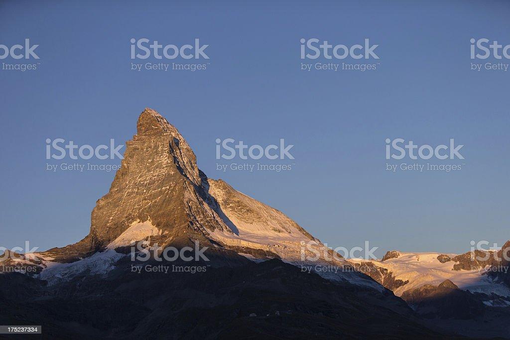 Matterhorn in the morning light royalty-free stock photo