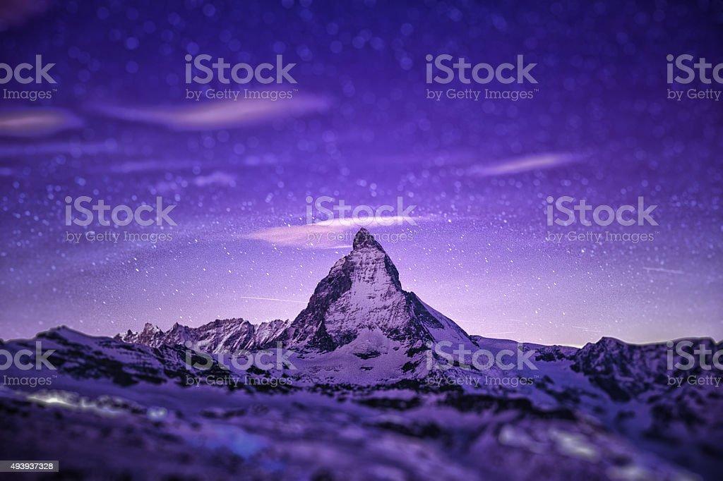 Matterhorn in Tilt-shift stock photo