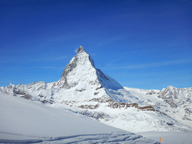 Matterhorn in winter stock photo