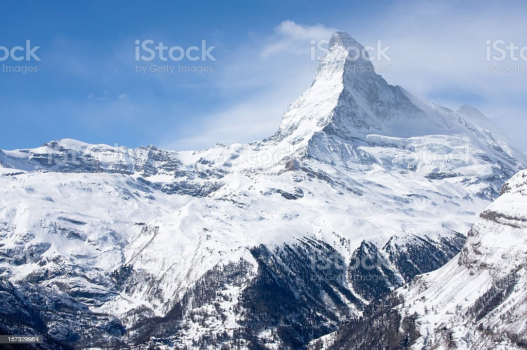Matterhorn In Winter royalty-free stock photo